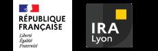 Marianne et logo de l'IRA de Lyon