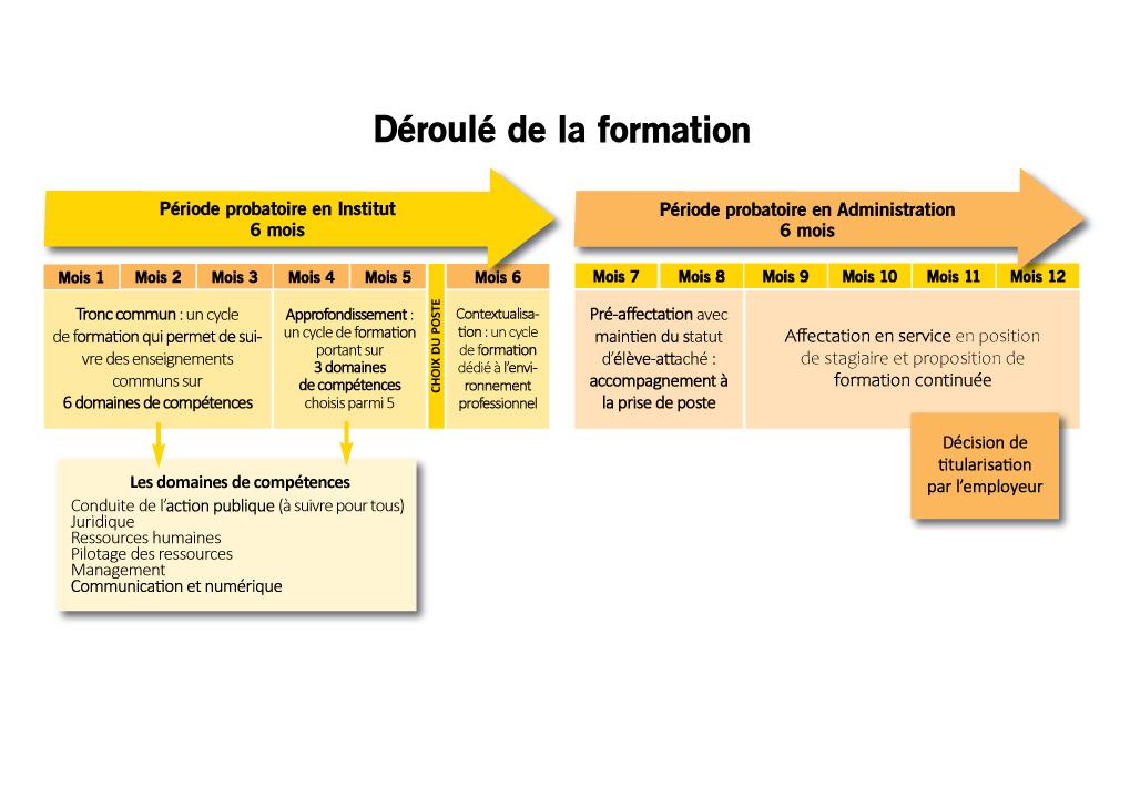 Schéma du déroulé de la formation